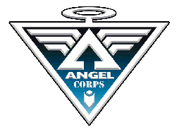 The ANGELCORPS Badge (TM and � 2008 Eric Linquist and Leading Edge Comics)